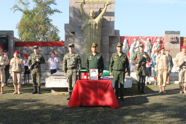 В Хакасии захоронили останки воина, павшего на полях Великой Отечественной войны