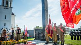 Открытие монумента « Участникам локальных войн и военных конфликтов» в городе Саяногорск