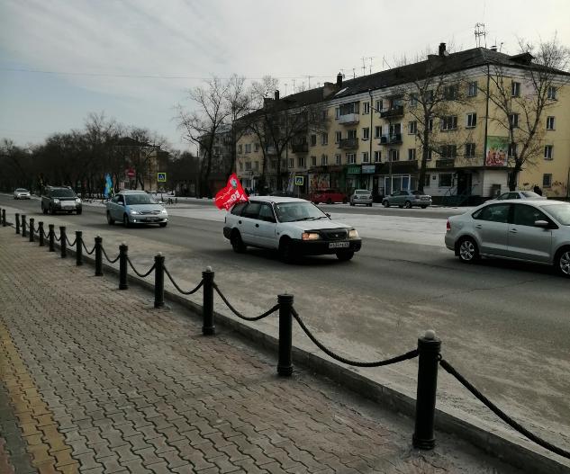 Автопробег в городе Черногорск
