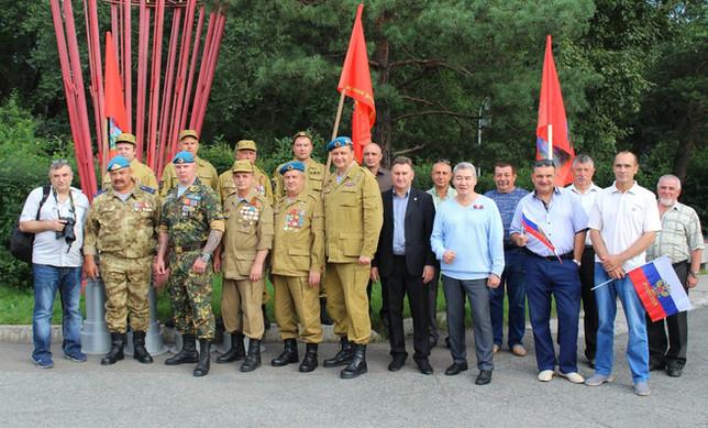 Хакасское «БОЕВОЕ БРАТСТВО» приняло участие в праздновании Дня Российского флага