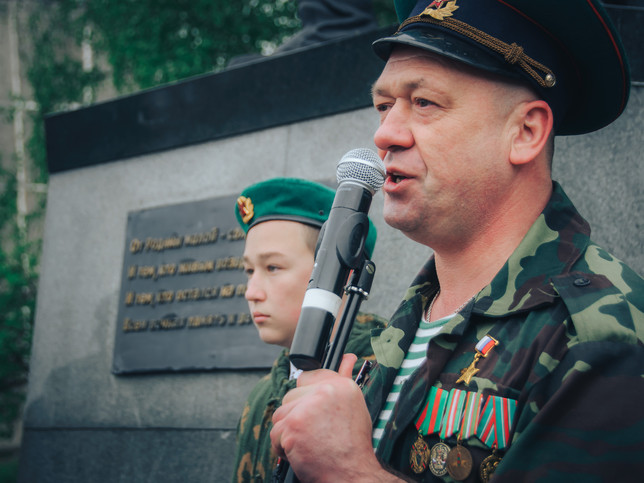 Обращение Героя России С. Евланова к пограничникам всех поколений