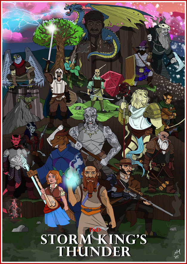 Dungeons and Dragons custom poster