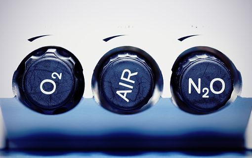 Air, oxygen, nitrous oxide - medical gas