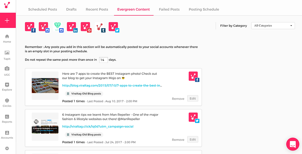 Viraltag Evergreen - 3 Reasons Why Viraltag Is The Absolute Best Social Media Scheduling Tool - Yes To Tech