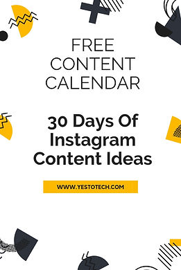 Resources - Instagram Content Calendar -
