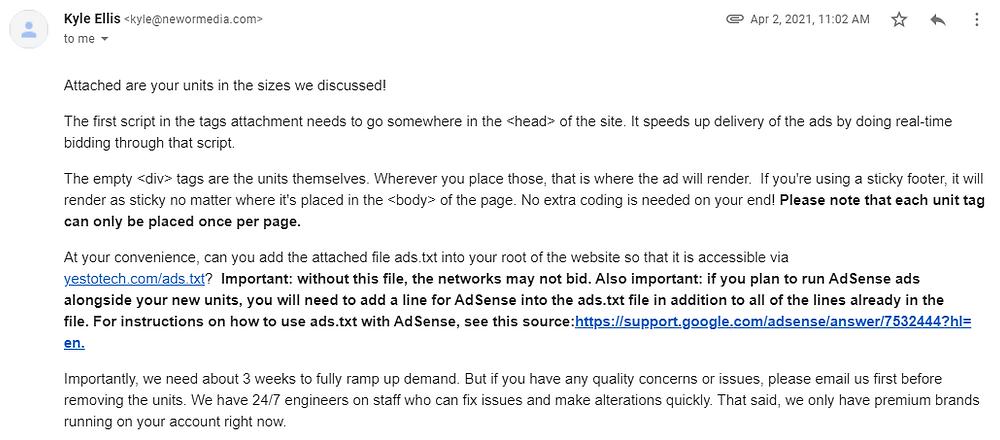 AdSense Alternative: Best Alternative To Google AdSense | Newor Media | Yes To Tech