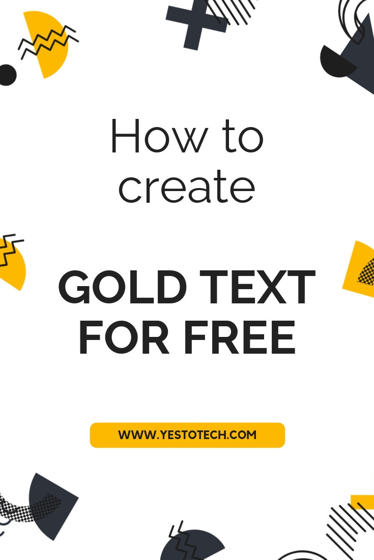 How To Create Gold Text For FREE (Pixlr Tutorial - Free Photoshop Alternative) - Yes To Tech