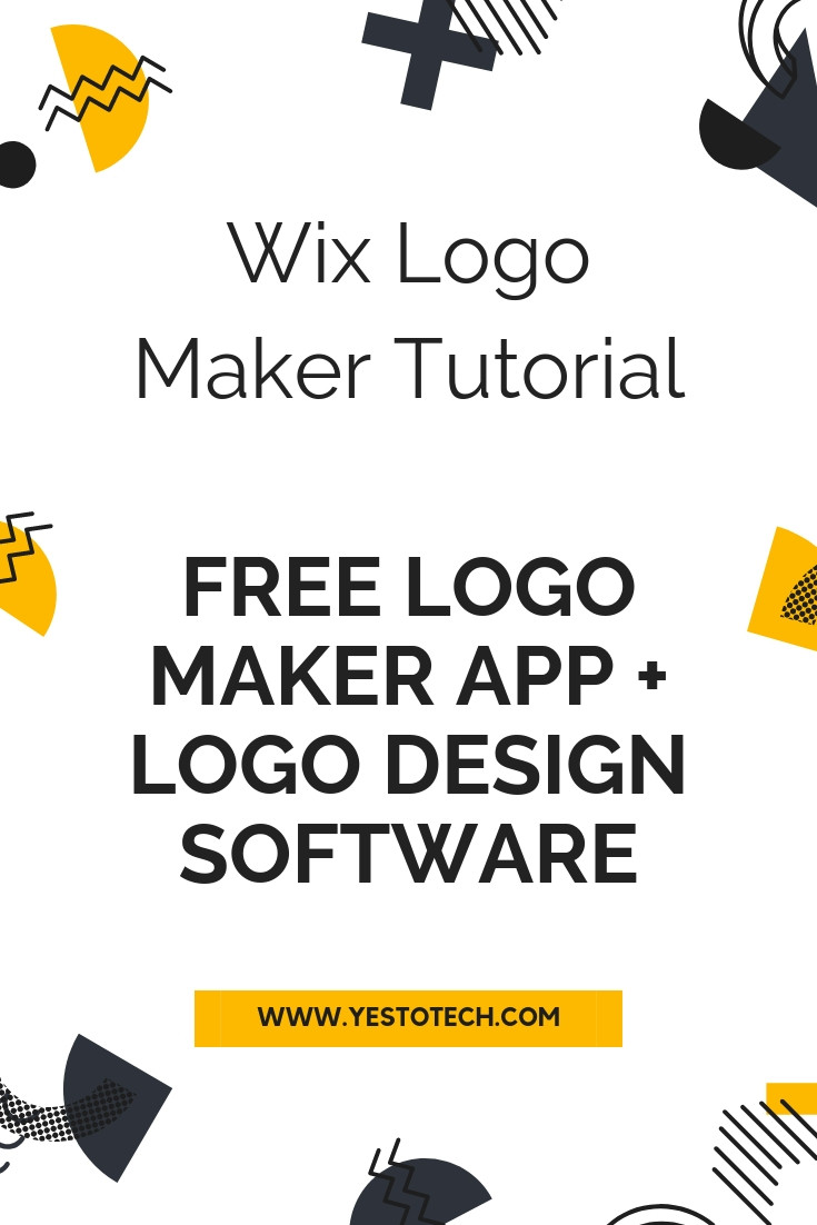 Wix Logo Maker Tutorial: Free Logo Maker App - Free Logo Design Software | Yes To Tech