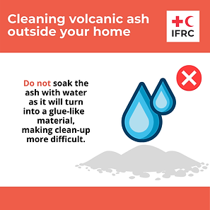 Cleaning volcanic ash - Do not soak the