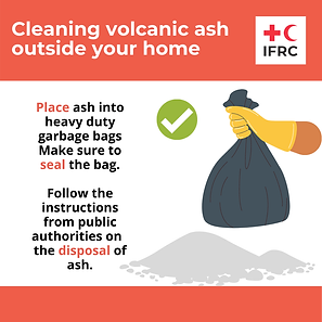 Cleaning volcanic ash - Place ash into h