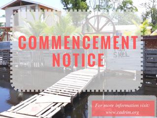 Commencement Notice