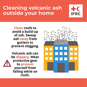 Cleaning volcanic ash - clean roofs to a