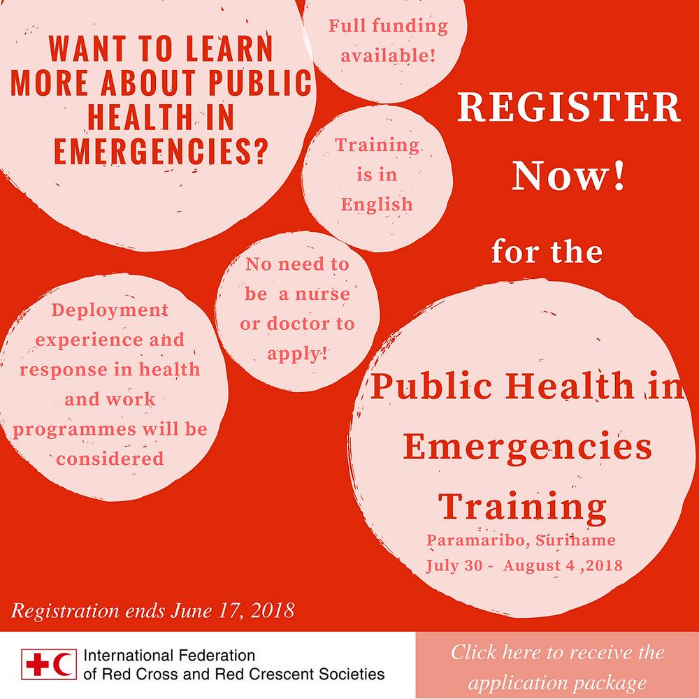 Public Health in Emergencies Training