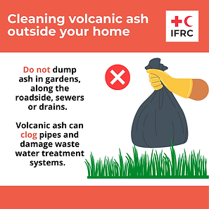 Cleaning volcanic ash - Do not dump ash