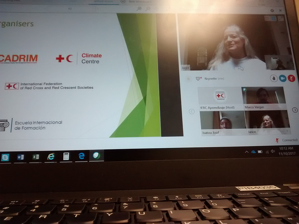 Janot Mendler de Suarez addressing the participants at the Introductory Webinar.