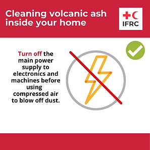 Cleaning volcanic ash inside - Turn off