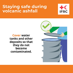 Staying safe during volcanic ashfall SVG