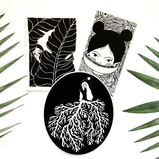Tropical Ladies Sticker Pack