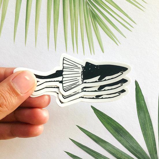 Tutu Shark Sticker