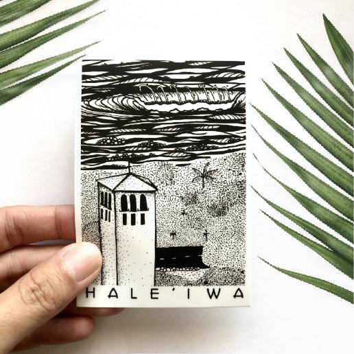 Waimea Winter Hale'iwa Sticker