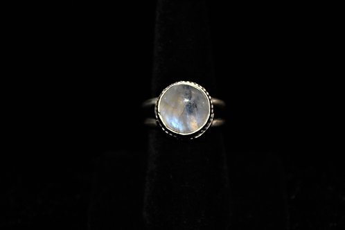 Labradorized White Moonstone Ring