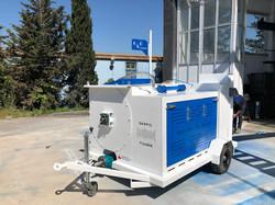 foam concrete machine with pump