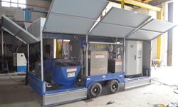 FULL AUTOMATIC MOBILE FOAM CONCRETE PRODUCTION MACHINE