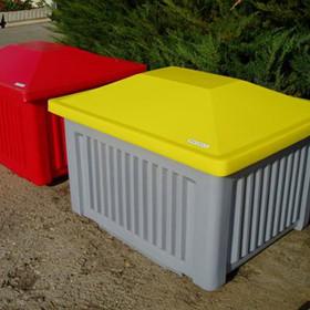 500 Liter Kunststoff-Streugutcontainer ohne Schaufelöffnung