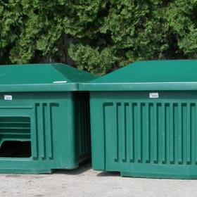 500 Liter Kunststoff-Streugutcontainer mit Schaufelöffnung