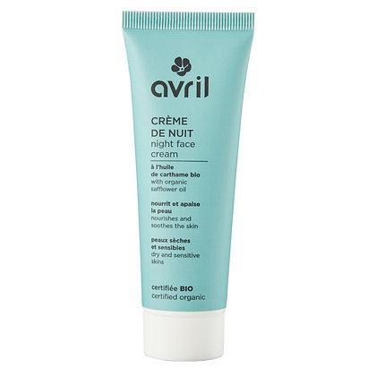 Crème de nuit peaux sensibles