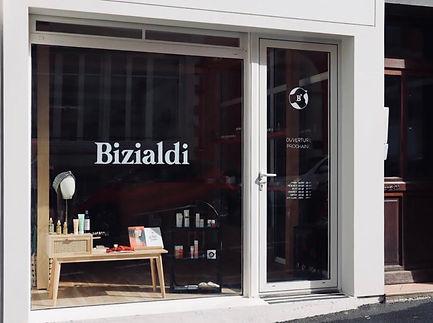 Façade boutique Bizialdi cancer