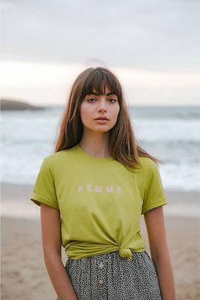 T-shirt unisexe FEMME - chartreuse