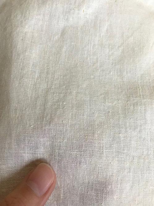 PLAIN  平織生地 21N×21N ヘンプ55%×オーガニックコットン45% 148cm幅 オフホワイト