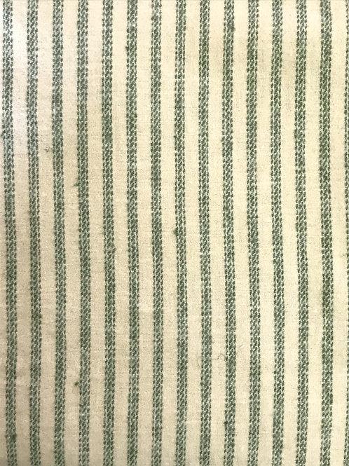 TWILL FLANNELL ツイルネル ヘンプ55%×オーガニックコットン45% 148cm幅 ストライプグリーン