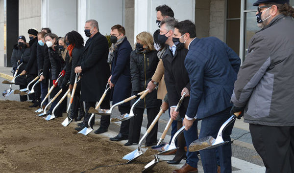 Groundbreaking at Cross County Center