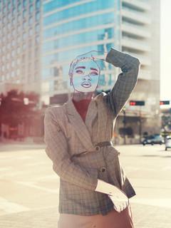 downtown city line portrait