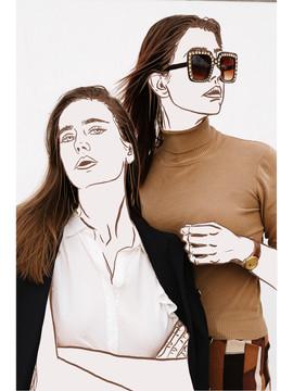 fashion line drawing