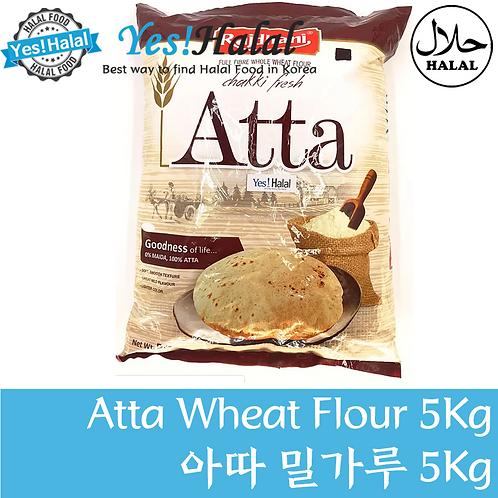 Atta Whole Wheat Flour (India, Rajdhani, 5kg)