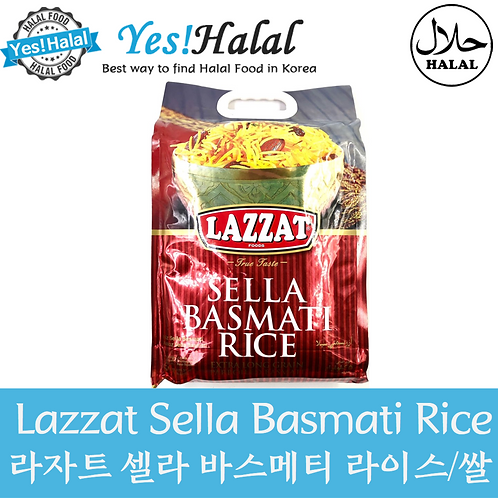 Basmati Sella Rice (Pakistan, Lazzat, 5kg)