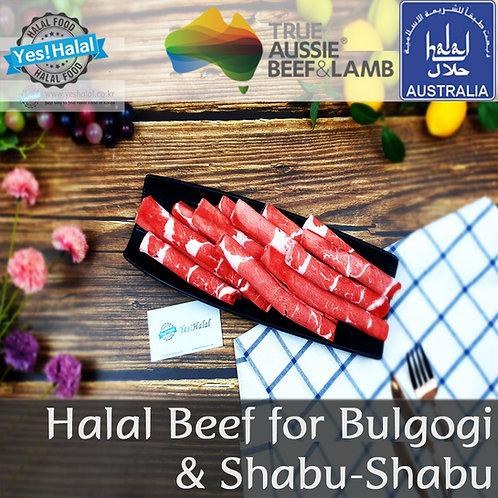 Halal Beef for Shabu-Shabu / Bulgogi (Australian Beef, 600g - 2,200won/100g)