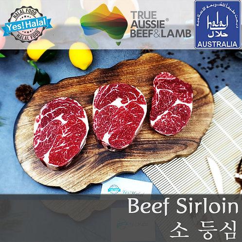 Australian Halal Beef Sirloin (2.5cm Sliced for Steak/700g - 2,200won/100g))