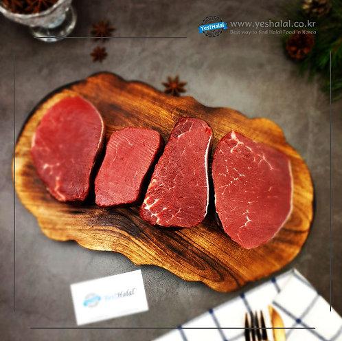 Halal Beef Tenderloin (5cm Sliced for Steak/1Kg - 3,300won/100g)