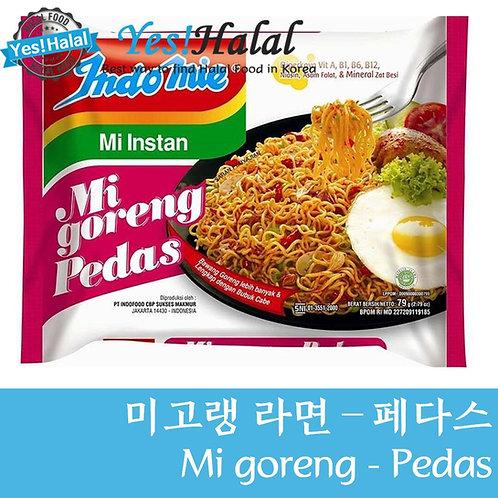 Indomie Noodles - Mi Goreng Pedas (Indonesia, Halal, 80g)