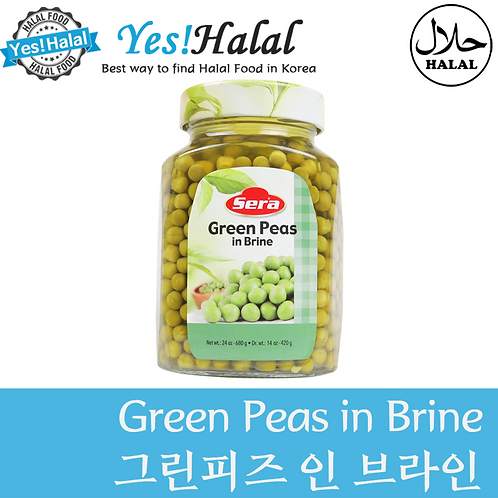 Green Peas in Brine (Turkey, Sera, 680g)