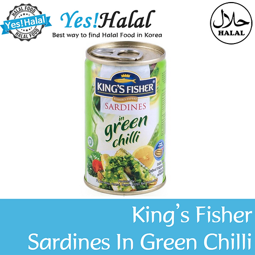 King's Fisher Sardines in Green Chili (Indonesia, 155g)