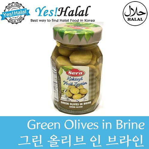 Green Olives in Brine (Turkey, Sera, 340g)