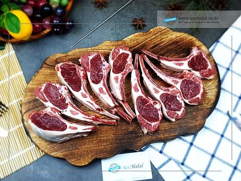 Halal Lamb Rib with Sirloin/Frenched Rack (8 Ribs, 4,300won/100g)