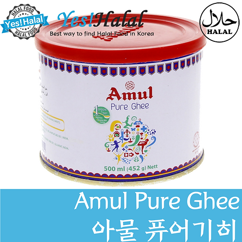 Amul Pure Ghee/아물 퓨어 기버터 (India, 500ml)
