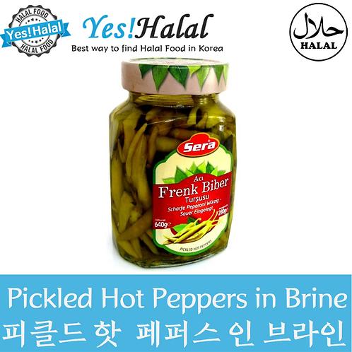 Pickled Hot Peppers in Brine (Turkey, Sera, 640g)