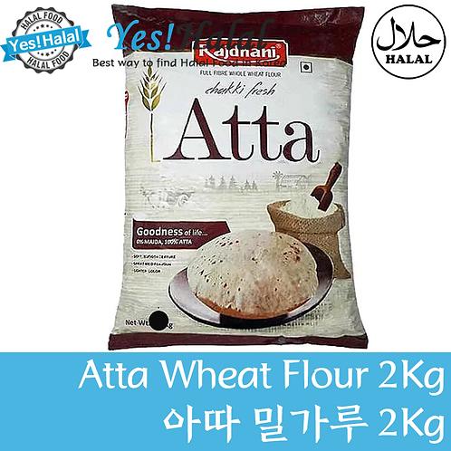 Atta Whole Wheat Flour (India, Rajdhani, 2kg)